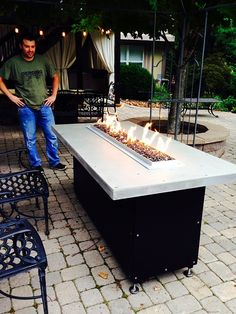 T-Burner Complete Basic Propane Fire Table Kit Propane Fire Pit Kit, Diy Gas Fire Pit, Easy Fire Pit, Fire Pit Table Top, Into The Fire, Outdoor Furniture Sets, Outdoor Decor, Backyard Furniture, Outdoor Ideas