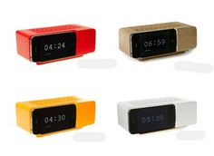 Jonas Damon alarm at Areawear -- it's actually an iPhone dock!