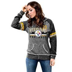 Pittsburgh Steelers Women's Neon Yellow Triple Play V-Neck T-Shirt ...