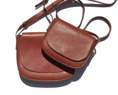 Mansur Gavriel Crossbody Bag, Brown Leather Bag, Satchel Bag / Garance Doré Goods
