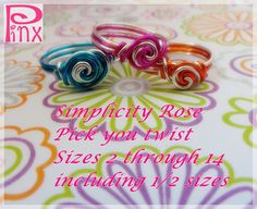 Special Price Pick Your Twist Simplicity Rose Ring by Pinx Jewelry