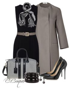 """Just Black&Grey"" by ccroquer ❤ liked on Polyvore featuring Jil Sander, Jimmy Choo, Christian Dior, See by Chloé and Links of London"