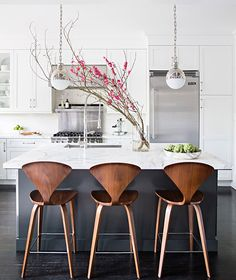 Modern Kitchen Design 10 Best Modern Counter Stools - Thorough round up of the 10 best modern counter stools around. Find a perfect match for your decor in any price point with this great resource. Modern Counter Stools, Kitchen Stools, Modern Stools, Counter Tops, Modern Bar, Copper Bar Stools, Copper Chairs, Counter Stools With Backs, Contemporary Bar Stools