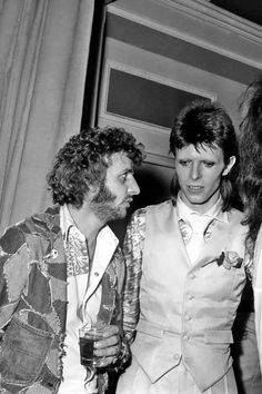 Ringo Starr & David Bowie (The perm and that mullet... and I still find them attractive lol)