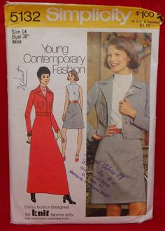 1967 through 1992 Vintage Simplicity Sewing Patterns 5132 - 9014 Mulitple Sizes #Simplicity