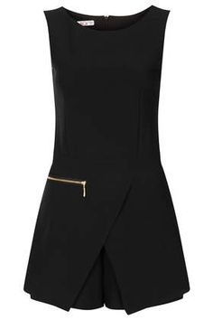 TOPSHOP | **Zip Playsuit by Wal G | $74