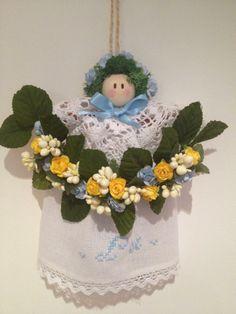 Birth Announcement Angel #handmade Fiocco Nascita. Visit ILOVETUNDRA https://www.facebook.com/ilovetundra?fref=ts
