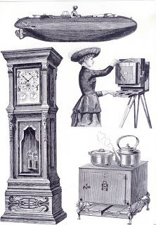 **FREE ViNTaGE DiGiTaL STaMPS**: Free Digital Stamp - Furniture Collage