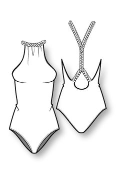 S/S 14 swim & coordinates: key items - Bademode Fashion Design Template, Fashion Templates, Pattern Fashion, Flat Drawings, Flat Sketches, Technical Drawings, Fashion Design Portfolio, Fashion Design Drawings, Drawing Fashion