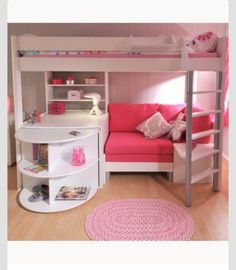 3 in 1 bunk bed, desk, and mini couch