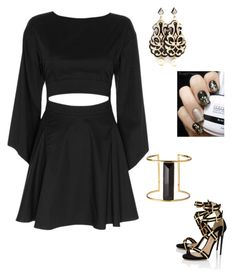 """Liquid Gold"" by im-karla-with-a-k ❤ liked on Polyvore featuring Exclusive for Intermix, Paul Andrew and Rachel Zoe"