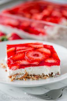 Strawberry Pretzel Salad Really nice recipes. Every hour. Show  Mein Blog: Alles rund um Genuss & Geschmack  Kochen Backen Braten Vorspeisen Mains & Desserts!