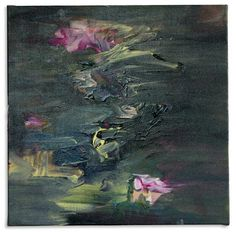 Katy Moran. Her intimately-scaled abstract paintings seem like odes to canonical works from art history. This painting reminds me of Monet's Waterlilies.