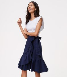 Primary Image of Ruffled Wrap Skirt