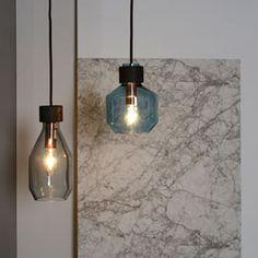 Darcey Pendant Blue/Grey By Rikke Frost | Pendants | Pendants & Chandeliers | Lighting | Heal's