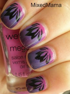 Purple and pink gradient...stamped!