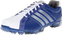 Premium, full-grain aniline leather upper and lining on these mens Adicross tour golf shoes by Adidas offer superior comfort