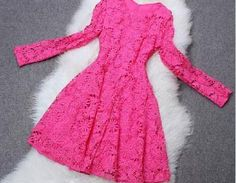 Fabric: LaceColor: Photo ColorSize Chart : (CM)S: Bust 82, Waist 70, Length 85, Sleeve 54M: Bust 86, Waist 74, Length 86, Sleeve 55L: Bust 90, Waist 78, Length 87, Sleeve 56