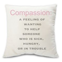 Compassion decorative humanitarian throw pillow  by BuyAPillow, $79.00