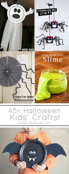 Halloween Kids Crafts at Sweet Rose Studio - we love the look of that icky green slime - the kiddos will love it! Halloween Tags, Theme Halloween, Halloween Crafts For Kids, Halloween Birthday, Holidays Halloween, Holiday Crafts, Holiday Fun, Party Crafts, Birthday Kids