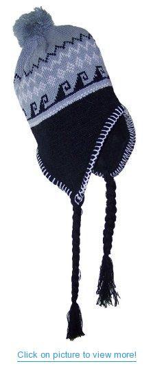 ddf7f17afa5 Pax Trading Peruvian Diamond Pattern Winter Ear Flap Hat (One Size)  Pax