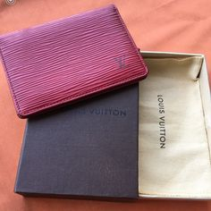 Authentic Lv Card Case
