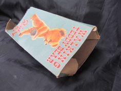 Vintage Walking Teddy Bear by Rosebud in oriiginal box Womans Weekly, Rose Buds, 1950s, Knitting Patterns, Walking, Teddy Bear, Box, Tableware, Vintage