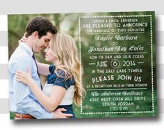 lds wedding invitations - Google Search