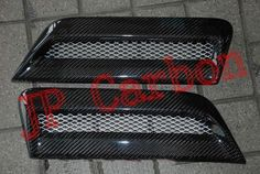Carbon Fiber Hood Scoops Vents for Mitsubishi Lancer Ex Evo 10 ...