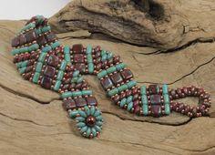 SUPERDUO CZECHMATE TILE Rulla Bracelet  Two por CinfulBeadCreations