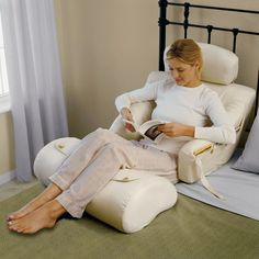 I need this NOW for pregnancy sleep!! pThis soft yet structured lounger offers superior back support, and its adjustable headrest automatically follows your head's normal movements for increased neck support. The lounger's flexible plastic frame adjusts to accommodate your body's contours and movements, ensuring optimal support and comfort in any position.