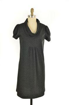 M Studio Black Pattern Cowl Knit Dress Size 6   ClosetDash #mstudio #cowl #dress #fashion #style
