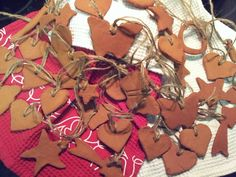 Cinnamon ornaments we plan to give out with our Random Acts of Kindness gifts throughout the year. The kids and I enjoyed making these and can't wait to spread the smiles. We used the classic McCormick recipe of 3/4 C Apple Sauce and 4 oz cinnamon.  bkl
