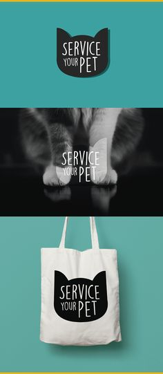Service Your Pet, Logo proposal on Behance, cat logo, good logo, awesome design