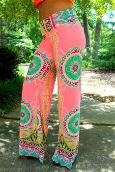 Color Me Southern Palazzo Pants Pink $32.99 #SouthernFriedChics