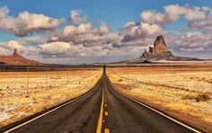 Winter Road Trip - © Jeff R. Clow  I just returned from a six day road trip with my good friend Don as we explored photo locations in New Mexico and along the Arizona and Utah borders.  This was taken outside Kayenta, Arizona on the road to Monument Valley. The light dusting of snow on the ground made the scene more memorable from my perspective....