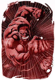 """General """"Thunderbolt"""" Ross aka The Red Hulk by Marcelo Mueller"""