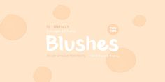 TT Blushes - Webfont & Desktop font « MyFonts