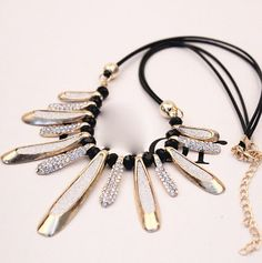 Fashion-Charm-Jewelry-Pendant-Chain-Crystal-Choker-Chunky-Statement-Bib-Necklace
