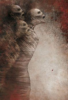 'Edgar Allan Poe' (2009) by Mexican artist & illustrator Gabriel Pacheco (b.1973). via the artist's blog
