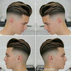 Haircut by agusbarber_ http://ift.tt/1O6KfUf #menshair #menshairstyles…