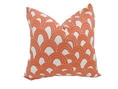orange designer pillow