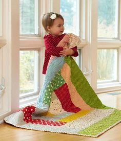 giant log cabin kid's quilt by nobleba