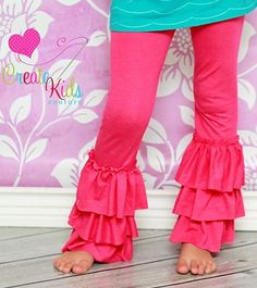 Kelsey's Girls Boutique Ruffled Leggings PDF Pattern (twilight sparkle costume pants)