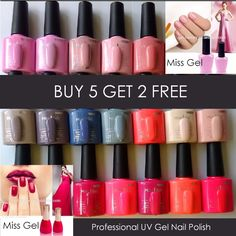Lovely Miss Gel Professional uv gel salon nail polish best colours lamp starter kit
