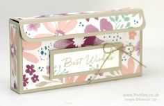Stampin' Up! Demonstrator Pootles - My 4th Anniversary with Stampin' Up! Double Jumbo Tea Light Blossom Box. Click through for more details and video tutorial!