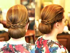 modernized 60's updo via Hair and Make-up by Steph