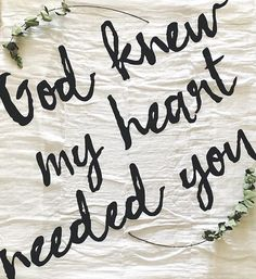God Knew My Heart Needed You swaddle blanket by Modern Burlap. God knows your deepest desires, and He will make everything perfect in His time.