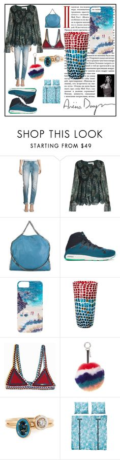 """""""fashion for women's"""" by denisee-denisee ❤ liked on Polyvore featuring Miss Me, See by Chloé, STELLA McCARTNEY, Under Armour, Gray Malin, Venini, kiini, Fendi, Alison Lou and SNURK"""