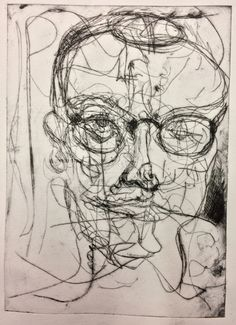 'Self portrait' Drypoint on paper Life Drawing, Figure Drawing, Drawing Sketches, Art Drawings, Drawing Ideas, Self Portrait Drawing, Intaglio Printmaking, Drypoint Etching, Art Diary